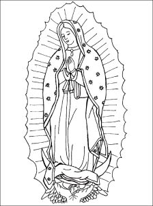 Coloring page of Our Lady of Guad