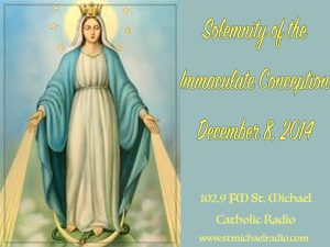 Solemnity of the Immaculate